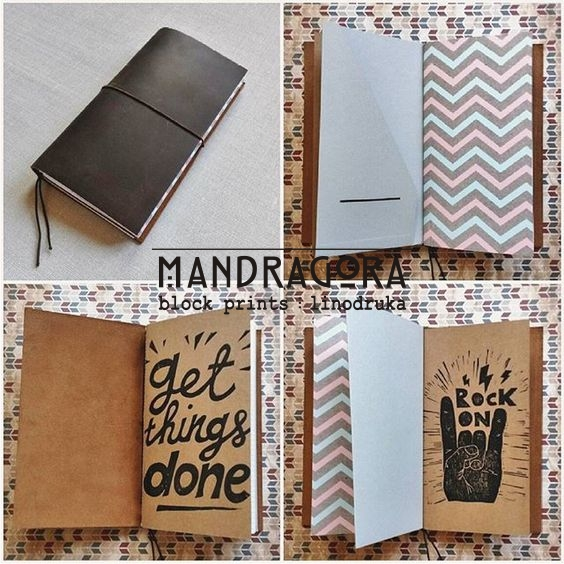 Midori Traveler's Notebook stila blociņš